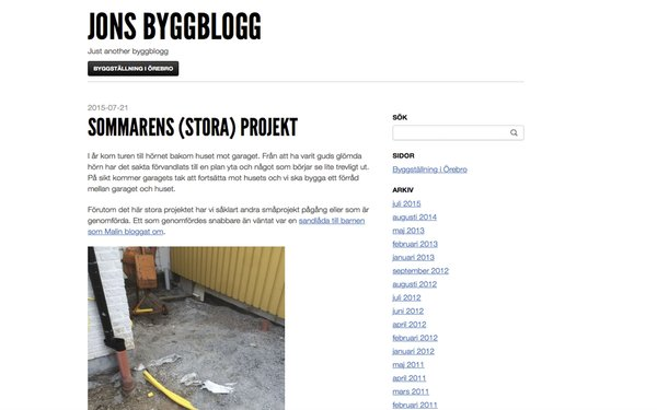 Jons byggblogg