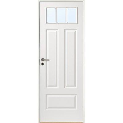Innerdörr Gotland - Kompakt dörrblad med 4:spegel-indelning ink glasparti SP3