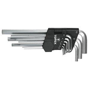 Insexnyckelset 1,5 - 10 mm, 9 delar