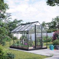 Växthus Neptunus - Svart 5 m² härdat glas