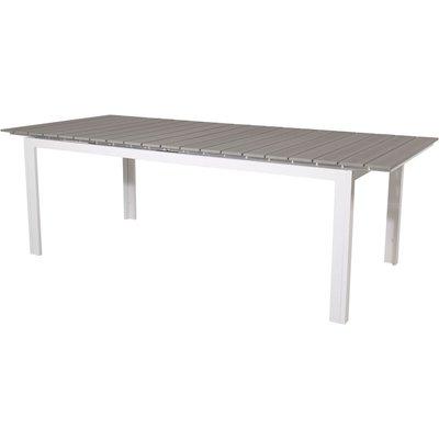 Prässebo Matbord – Vit/grå