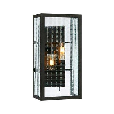 Flarken Vägglampa - Svart/Klarglas