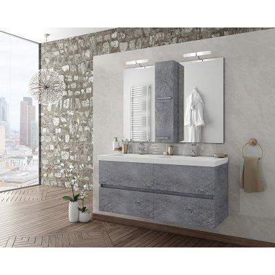Möbelpaket Luxus 120 - Granitfärgat med spegelskåp