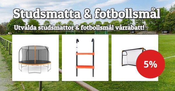 Studsmatta, stegar & fotbollsmål 5%