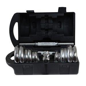 Hantelset - Kromade vikter & hantel - 20 kg