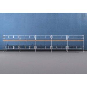 Byggnadsställning HAKI Ram 15x4 m - Aluminium