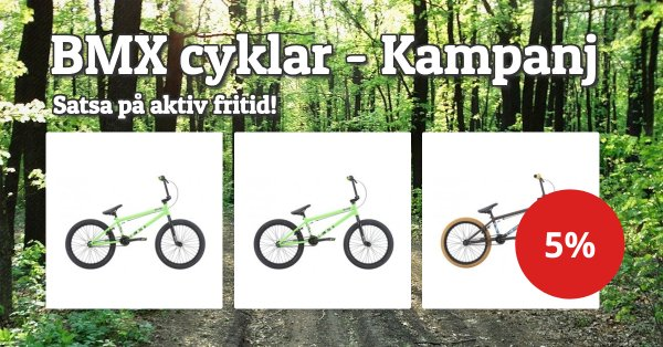 BMX-cyklar 5%