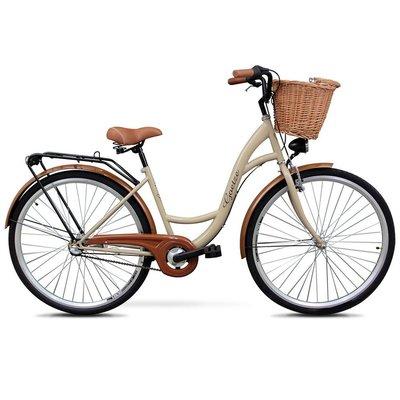 """Cykel Classic 28\\\"""" - 3 växlar - cappucino"""