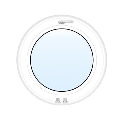 PVC-fönster | Runt Öppningsbart | 3-glas
