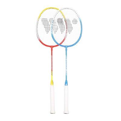 Badmintonset (röd, gul, blå & vit) ALUMTEC 366K