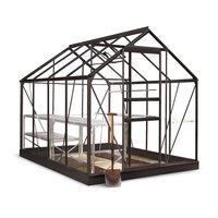 Växthus Popular 5 m² - Svart