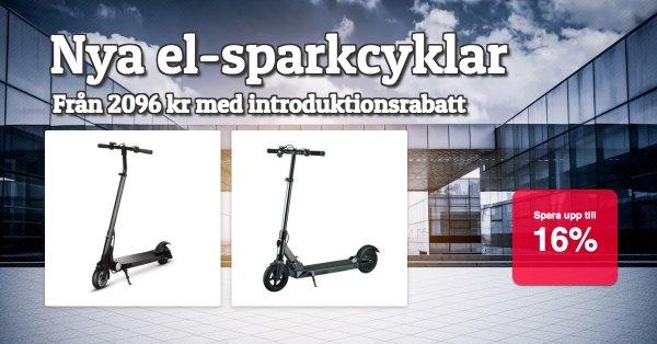 El-sparkcykel - Nytt i sortimentet - Kanonpriser!