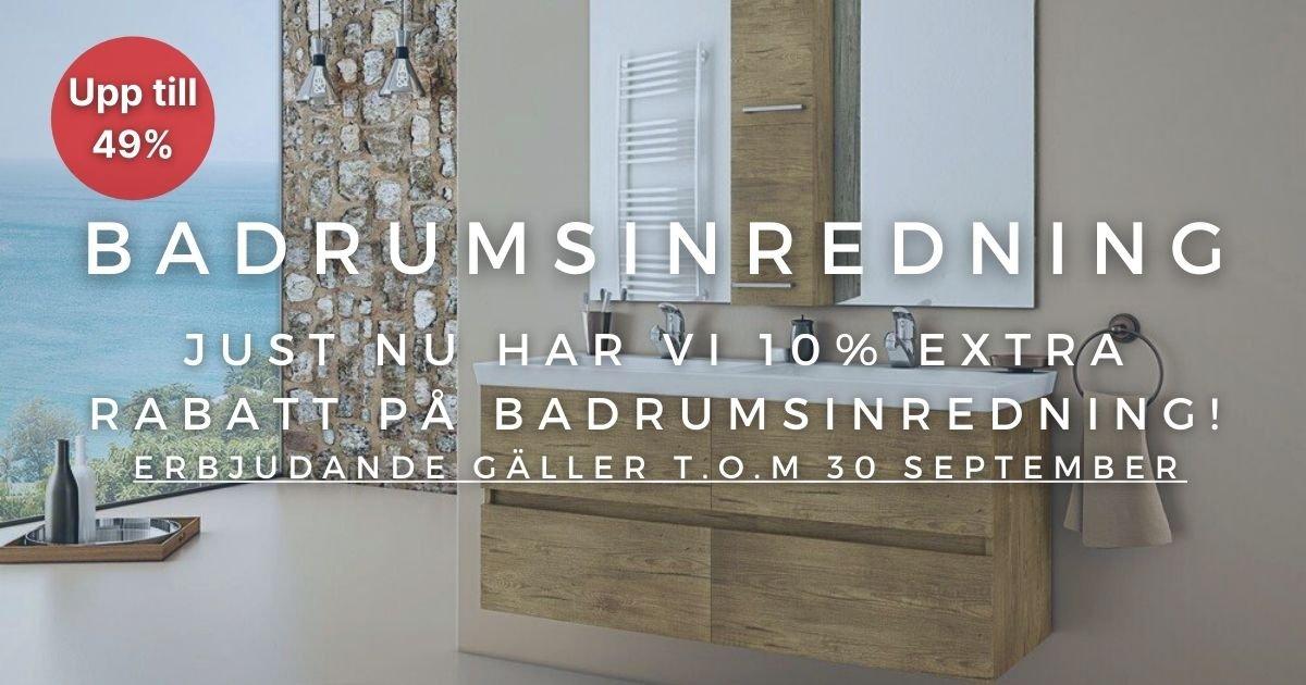 10% extra rabatt på Badrumsinredning!