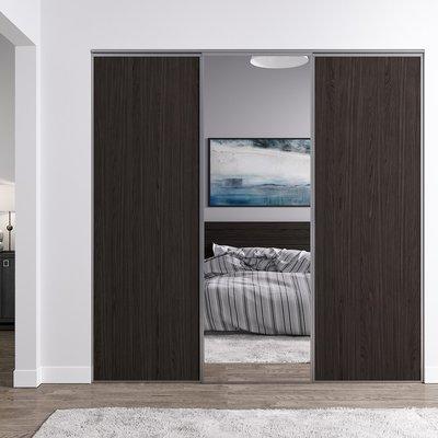 Venedig skjutdörr till garderob - 3 dörrar - Panel/spegel (flera färgval)